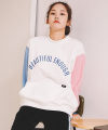 모티브스트릿(motivestreet) [기모추가]COLOR BLOCK SWEAT SHIRT IVORY