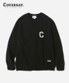 커버낫(covernat) C LOGO CREWNECK BLACK