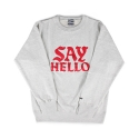 세이헬로우(SAYHELLO) Biz Crew Neck Ash Gray