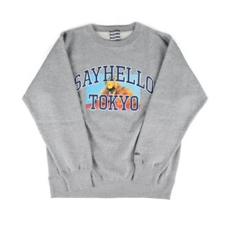 세이헬로우(sayhello) Cat Eats Crew Neck Sport Gray