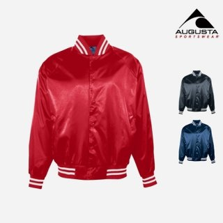 어거스타 스포츠웨어(augustasportswear) SATIN BASEBALL JACKET (3 COLORS)