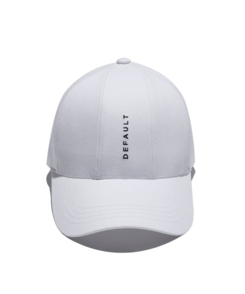 디폴트(DEFAULT) DEFAULT EMBROIDERY 7PANEL CAP(White)