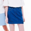 네스티해빗(NASTYHABIT) 16SU_C_DECALCOMANIE DENIM SKIRT (blue)