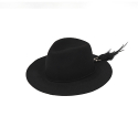 밀리어네어햇(MILLIONAIRE HATS) 2way custom wool fedora [BLACK]
