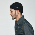 밀리어네어햇(MILLIONAIRE HATS) (cotton) watch cap [BLACK]