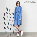 MeKENNA Printed  stripe shirt dress_MX2Y3OP0010