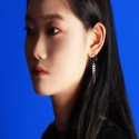비터() CIRCLE SILVER CHAIN EARRING