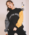 모티브스트릿(motivestreet) [기모추가]COLOR BLOCK SWEAT SHIRT BLACK