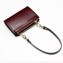 포안() TWIN ZIP MULTI WALLET-MINI BAG_BURGUNDY