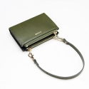 포안(POANE) TWIN ZIP MULTI WALLET-MINI BAG_KHAKI