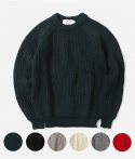 FISHERMAN RIB CREWNECK (6colors)