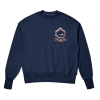 비욘드클로젯(beyondcloset) [COLLECTION]BROMANCE WAPPEN STICH SWEAT SHIRT NAVY