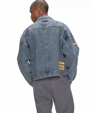 오베르(overr) ESSAY.2 BELT WASHING DENIM JACKET