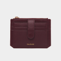 살랑(SALRANG) Dijon 301S Flap mini Card Wallet burgundy