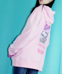 ON THE RADIO L/S OVER FIT HOODY PINK