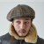 BIG APPLE [2WAY] - CLASSIC CHECK NEWSBOY CAP - HOUNDS TOOTH BEIGE