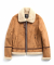USF SUEDE MOUTON JACKET CAMEL
