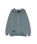 피치블랙(PITCHBLACK) SIDE VENT REGLAN HOOD ZIP (GREY)