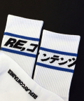 리플레이컨테이너(REPLAY CONTAINER) blue line socks (white)