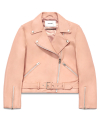 비바스튜디오(vivastudio) WOMENS LAMB SKIN RIDERS JACKET HS [PINK]