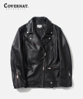 커버낫(COVERNAT) (WOMEN)LAMBSKIN CLAUDE RIDER JACKET