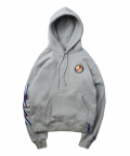 로맨틱 크라운(ROMANTIC CROWN) Ceremony Tape Wide hoodie_GRAY