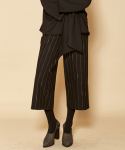 더케이스토리(THEKSTORY) STRIPE PANTS_BLACK