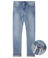 M#1241 snowblue selvedge washed jeans