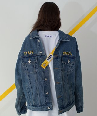 스텝온리(staffonly) SAFETY BELT DENIM JACKET (BLUE)