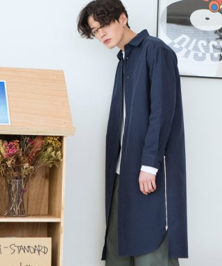 로얄위(theroyalwe) Long Zip Shirts Coat Navy