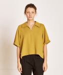 더케이스토리(THEKSTORY) Slip down blouse_YELLOW