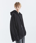 인디고칠드런(INDIGO CHILDREN) OVERSIZED FLARE HOODIE2 [BLACK]