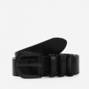 모노노(MONONO) 3 Ring Matt All Black_Italian Cow Leather Belt