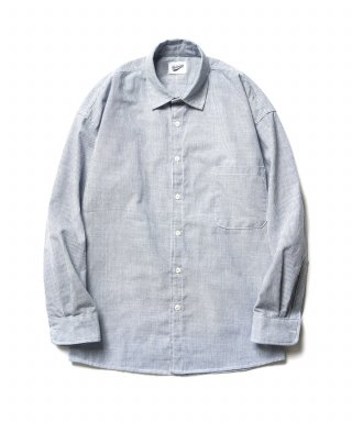 파르티멘토(partimento) Hair Line Stripe Shirts Sky