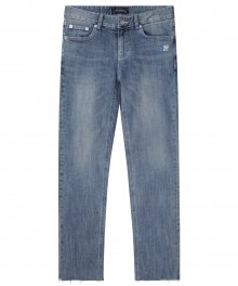 M#1268 flag logo washed jeans