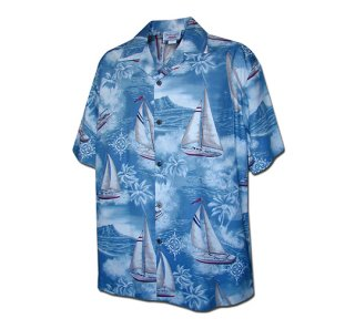 퍼시픽레전드(pacificlegend) Hawaiian Shirts 410-3610 [Slate]