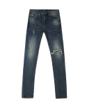 DK-07-1011 crush patch washing jeans
