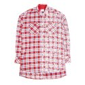 세인트쇼() HALF FADED FLANNEL SHIRT - RED