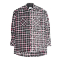 세인트쇼() HALF FADED FLANNEL SHIRT - BLACK