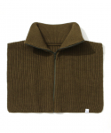 라퍼지스토어(LAFUDGESTORE) Zipper Knit Warmer_Khaki