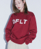 DFLT APPLIQUE CREWNECK(BURGUNDY)