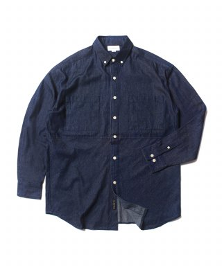 크리틱(critic) MFG DENIM BUTTON DOWN SHIRT(BLUE)_CMOEALS31UB1