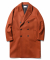 Double Oversize Cashmere Coat Brick Red