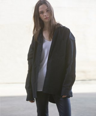 피스워커(pieceworker) Oversizing Shirket - Black / Semiover