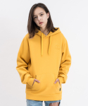 LOGO EMBROIDERY PULLOVER HOODIE (Mustard)