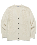 라이풀(LIFUL) CABLE KNIT CARDIGAN ivory