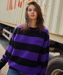 매드마르스(MADMARS) MADMARS STRIPE KNIT_PURPLE