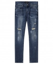 M#1417 embossing washed jeans