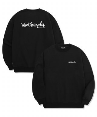 마크 곤잘레스(markgonzales) M/G SMALL SIGN LOGO CREWNECK BLACK