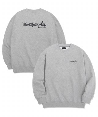 마크 곤잘레스(markgonzales) M/G SMALL SIGN LOGO CREWNECK GRAY